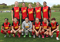 Piscataway, NJ, May 7, 2016.  The starting 11 for the Western New York Flash.  Sky Blue FC took on the Western New York Flash during a National Women's Soccer League (NWSL) match at Yurcak Field.