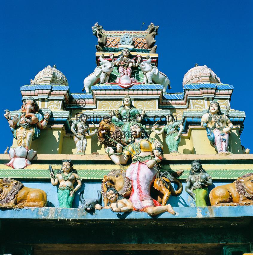 Sri Lanka, Detail of Hindu Temple | Sri Lanka, Gottheiten an einem Hindutempel