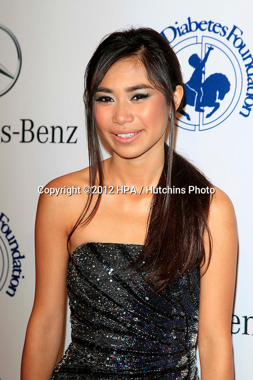 LOS ANGELES - OCT 20:  Jessica Sanchez arrives at  the 26th Carousel Of Hope Ball at Beverly Hilton Hotel on October 20, 2012 in Beverly Hills, CA