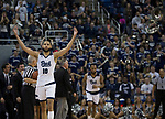 Nevada forward Caleb Martin (10) celebrates after making a three-point shot against San Diego State in the second half of an NCAA college basketball game in Reno, Nev., Saturday, Mar. 9, 2019. (AP Photo/Tom R. Smedes)