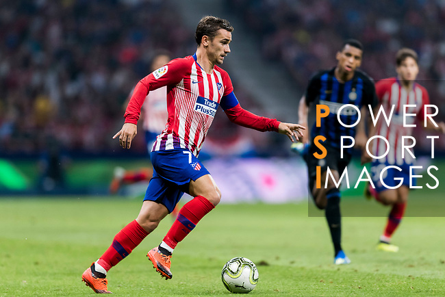 Antoine Griezmann of Atletico de Madrid in action during their International Champions Cup Europe 2018 match between Atletico de Madrid and FC Internazionale at Wanda Metropolitano on 11 August 2018, in Madrid, Spain. Photo by Diego Souto / Power Sport Images