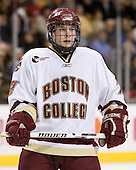 Ben Smith (Boston College - Avon, CT) - The Boston College Eagles defeated the Harvard University Crimson 3-1 in the first round of the 2007 Beanpot Tournament on Monday, February 5, 2007, at the TD Banknorth Garden in Boston, Massachusetts.  The first Beanpot Tournament was played in December 1952 with the scheduling moved to the first two Mondays of February in its sixth year.  The tournament is played between Boston College, Boston University, Harvard University and Northeastern University with the first round matchups alternating each year.