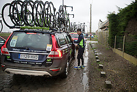 After having raced Dwars Door Vlaanderen and the E3 in the previous days, Nairo Quintana (COL/Movistar) took a backseat and witnessed the race from the teamcar. A safe choice considering the crashes/abandons the race brought.<br /> <br /> 77th Gent-Wevelgem 2015