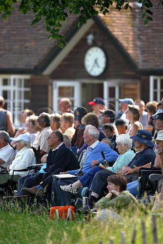 10 June 2007. Spectators watching the Friends Provident South trophy one day match between Sussex and Essex at Arundel cricket ground . Photo: Steve Bardens/actionplus..gv venue 070610 crowd spectator