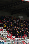 Dagenham and Redbridge 1 Burton Albion 3, 21/02/2015. Victoria Road, League Two. Burton supporters celebrate their second goal. Burton Albion moved to the top of League Two following a hard-fought win over Dagenham & Redbridge played in-front of 1,718 supporters. Photo by Simon Gill.