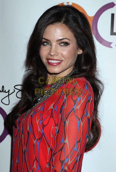 Jenna Dewan Tatum.Opening Of Kimberly Snyder's Glow Bio held at Glow Bio, West Hollywood, California, USA, 14th November 2012..half length red blue print side smiling .CAP/ADM/RE.©Russ Elliot/AdMedia/Capital Pictures.