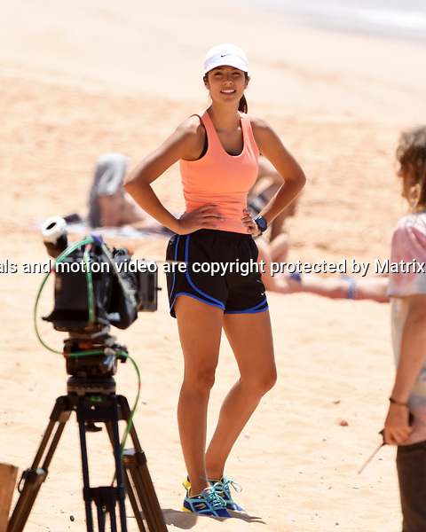 3 November, 2014 SYDNEY AUSTRALIA<br /> EXCLUSIVE <br /> Pictured,Bonnie Sveen, Pia Miller and Kyle Pryor, cast members of Home and Away doing scenes at the North Palm Beach Surf Club, Palm Beach, NSW. <br /> <br /> *No internet without clearance*.MUST CALL PRIOR TO USE +61 2 9211-1088. Matrix Media Group.Note: All editorial images subject to the following: For editorial use only. Additional clearance required for commercial, wireless, internet or promotional use.Images may not be altered or modified. Matrix Media Group makes no representations or warranties regarding names, trademarks or logos appearing in the images.