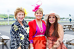Marie Maher (Duagh), Rita Holly (Listowel) and Grainne O'Rourke (Tralee) attending the Ladies Day at the Listowel Races on Sunday.