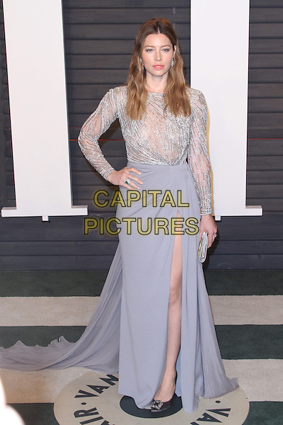 28 February 2016 - Beverly Hills, California - Jessica Biel. 2016 Vanity Fair Oscar Party hosted by Graydon Carter following the 88th Academy Awards held at the Wallis Annenberg Center for the Performing Arts. <br /> CAP/ADM<br /> &copy;ADM/Capital Pictures