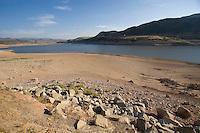 Nearly dry Echo Reservoir nearl Coalville, Utah