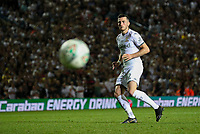 Leeds United's Jack Harrison misses the final penalty<br /> <br /> Photographer Alex Dodd/CameraSport<br /> <br /> The Carabao Cup Second Round- Leeds United v Stoke City - Tuesday 27th August 2019  - Elland Road - Leeds<br />  <br /> World Copyright © 2019 CameraSport. All rights reserved. 43 Linden Ave. Countesthorpe. Leicester. England. LE8 5PG - Tel: +44 (0) 116 277 4147 - admin@camerasport.com - www.camerasport.com