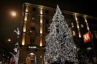 Christmas in Milan: a christmas tree near at Hotel et De Milan where stayed Giuseppe Verdi
