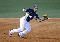 Florida International University infielder Mike Martinez (40) plays against Florida Atlantic University. FAU won the game 5-1 on March 16, 2012 at Miami, Florida.