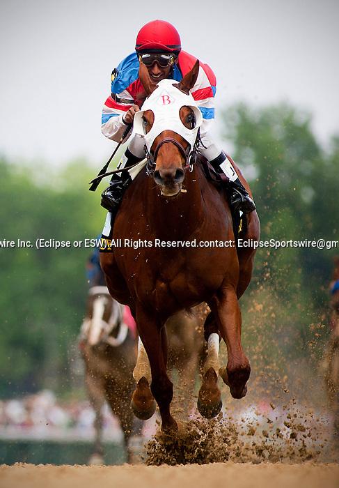 Louisville, KY- May 05: Groupie Doll with Rajiv Maragh wins the Hummana Distaff at Churchill Downs in Louisville, KY on 05/04/12. (Alex Evers/ Eclipse Sportswire)