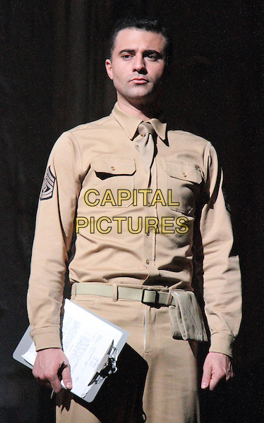 Darius Campbell<br /> 'From Here to Eternity' new musical theatre photocall,  Shaftesbury Theatre, London, England, UK, October 16th 2013.<br /> music acting on stage half length costume <br /> CAP/ROS<br /> &copy;Steve Ross/Capital Pictures