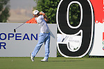 Gareth Maybin tees off on the 9th tee during Day 1 of the Dubai World Championship, Earth Course, Jumeirah Golf Estates, Dubai, 25th November 2010..(Picture Eoin Clarke/www.golffile.ie)