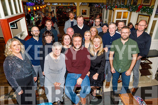 David Crowley from Tralee celebrating his 40th birthday on Friday in the Brogue Inn. <br /> David and Marie Crowley and Orla Riley.