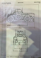BNPS.co.uk (01202 558833)<br /> Pic: ZacharyCulpin/BNPS<br /> <br /> Pictured: Technical data of the MK2 Reconnaissance vehicle. <br /> <br /> Bullet proof bargain -  This Cold War era British 'little tank' is being touted as a armour plated investment with ultra low insurance, and no VAT,  road tax or MoT.<br /> <br /> The Ferret scout car was a reconnaissance vehicle used by the British Army in Germany during the height of the Cold War.<br /> <br /> This one was decommissioned in the 1990s and has been owned in recent years by a private collector.<br /> <br /> It is now being sold at auction for a pre-sale estimate of between £15,000 to £20,000.<br /> <br /> But after the initial outlay, the vehicle is said to be incredibly cheap to run.