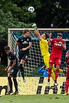 20.07.2019, Heinz-Dettmer-Stadion, Lohne, GER, Interwetten Cup, SV Werder Bremen vs 1. FC Koeln<br /> <br /> im Bild<br /> Joshua Sargent (Werder Bremen #19), Jiri Pavlenka (Werder Bremen #01), Jonas Hector (Koeln #14), <br /> <br /> Foto © nordphoto / Ewert
