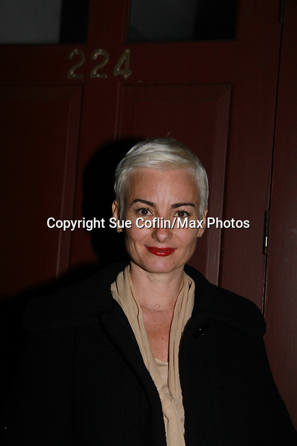 """One Life To Live  Bronwen Booth attends the play """"The Wood"""" at the Rattlestick Playwrights Theater, New York City, New York. The photo was taken on Septermber 16, 2011 night after opening night. John as """"Mike"""" in The Wood which is a """"heartfelt no-holds-barred look at """"Mike McAlary"""" larger than life columnist. His missionary zeal to ferret out the truth."""" (Photo by Sue Coflin/Max Photos)"""
