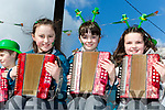 Shauna Hickey, Kate Rea and Amy Donnelly playing music  at the Rathmore parade on Sunday