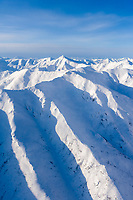 Aerial view of the Brooks mountain range, Gates of the Arctic National Park, Arctic Alaska