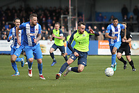 Matthew Warburton (Stockport County) during the Vanarama National League North match between Nuneaton Town and Stockport County at the Liberty Way Stadium, Nuneaton, England on 27 April 2019. Photo by James  Gill.
