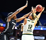 UNCASVILLE, CONNECTICUT -MAR 05: , USF ladies defeated UCF in the semis of the AAC tournament 74-59 as #12 grabs one her leading game leading rebounds on March 5, 2018 in Uncasville, Connecticut. ( Photo by D. Heary/Eclipse Sportswire/Getty Images)