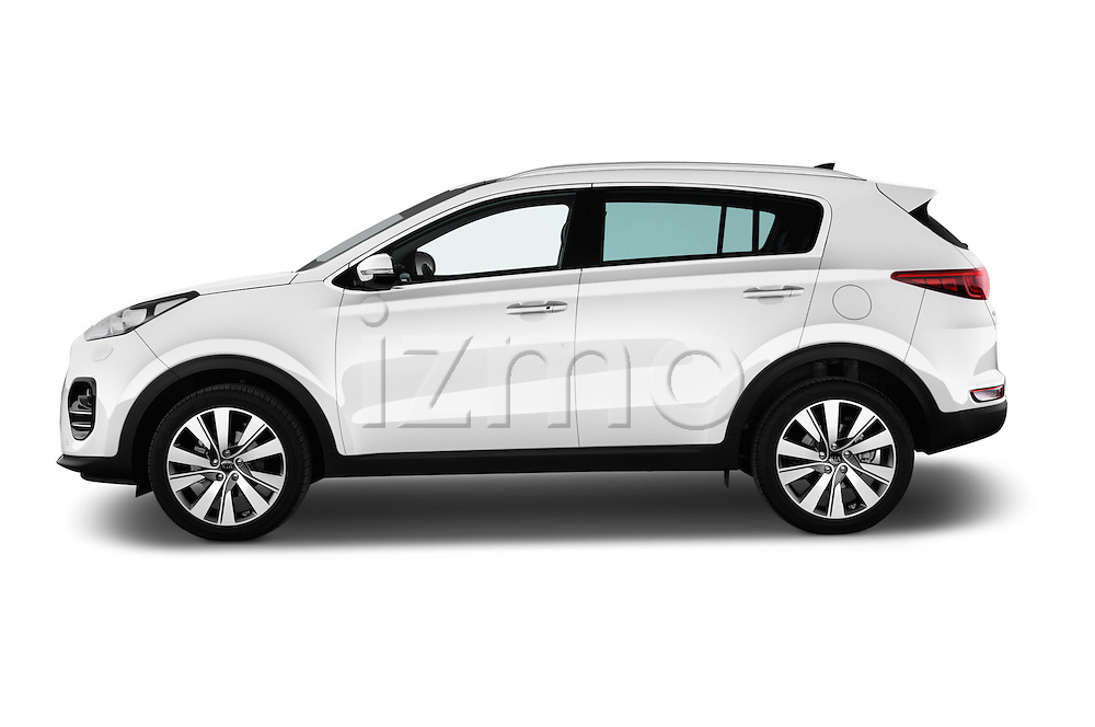 Car Driver side profile view of a 2016 KIA Sportage Sense 5 Door Suv Side View