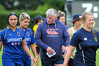 Otago coach David Latta. Canterbury v Otago Women on day one of the 2018 Bayleys National Sevens at Rotorua International Stadium in Rotorua, New Zealand on Saturday, 13 January 2018. Photo: Dave Lintott / lintottphoto.co.nz