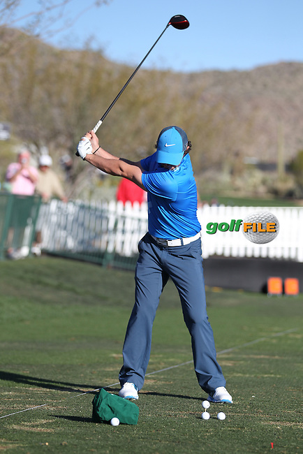 Rory McIlroy (NIR) Swing Sequence.during the practice day at the WGC Accenture Match Play Championship 2013, Dove Mountain, Morana, Arizona..Picture: Fran Caffrey / www.golffile.ie ..