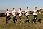 November 2, 2013; Malibu, CA, USA; Pepperdine men's cross country team during the WCC Cross Country Championship at Alumni Park.