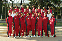 1 September 2005: Men's cross country team photo.
