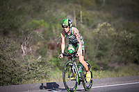 Heather Jackson out of the saddle in the Accenture Ironman California 70.3 in Oceanside, CA on March 29, 2014.