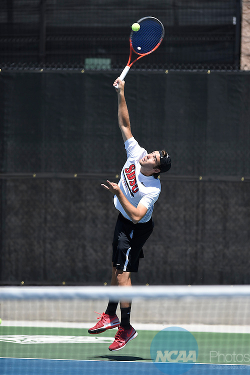 23 APR 2015: The 2015 Mountain West Men's Tennis Championship takes place at the McKinnon Family Tennis Stadium in Albuquerque, NM. Justin Tafoya/NCAA Photos