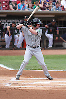 Kane County Cougars infielder Marty Herum (14) at bat during a Midwest League game against the Wisconsin Timber Rattlers on May 16th, 2015 at Fox Cities Stadium in Appleton, Wisconsin.  Kane County defeated Wisconsin 4-2.  (Brad Krause/Four Seam Images)