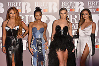 Little Mix<br /> The Brit Awards at the o2 Arena, Greenwich, London, England on February 22, 2017.<br /> CAP/PL<br /> &copy;Phil Loftus/Capital Pictures /MediaPunch ***NORTH AND SOUTH AMERICAS ONLY***