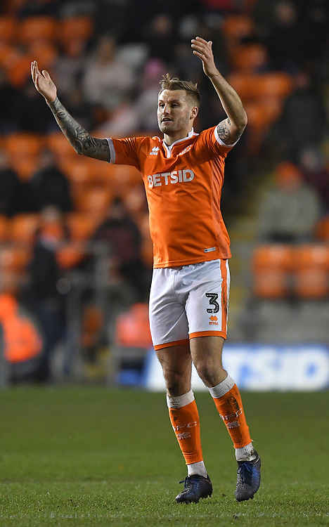 Blackpool's Nick Anderton<br /> <br /> Photographer Dave Howarth/CameraSport<br /> <br /> The EFL Sky Bet League One - Blackpool v Doncaster Rovers - Tuesday 12th March 2019 - Bloomfield Road - Blackpool<br /> <br /> World Copyright © 2019 CameraSport. All rights reserved. 43 Linden Ave. Countesthorpe. Leicester. England. LE8 5PG - Tel: +44 (0) 116 277 4147 - admin@camerasport.com - www.camerasport.com