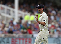 England's Alastair Cook reacts to cheers from the spectators<br /> <br /> Photographer Stephen White/CameraSport<br /> <br /> Investec Test Series 2017 - Second Test - England v South Africa - Day 3 - Sunday 16th July 2017 - Trent Bridge - Nottingham<br /> <br /> World Copyright &copy; 2017 CameraSport. All rights reserved. 43 Linden Ave. Countesthorpe. Leicester. England. LE8 5PG - Tel: +44 (0) 116 277 4147 - admin@camerasport.com - www.camerasport.com