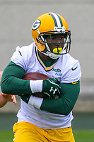 Green Bay Packers running back Jamaal Williams (30) during an Organized Team Activity on May 23, 2017 at Clarke Hinkle Field in Green Bay, Wisconsin.  (Brad Krause/Krause Sports Photography)