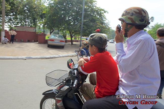 Man On Phone While On Motorcycle