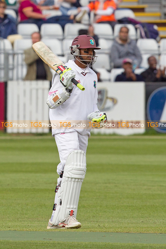 Shivnarine Chanderpaul, West Indies acknowledges his half century - West Indies vs England Lions - International Cricket Match at The County Ground, Northamptonshire CCC - 12/05/12 - MANDATORY CREDIT: Ray Lawrence/TGSPHOTO - Self billing applies where appropriate - 0845 094 6026 - contact@tgsphoto.co.uk - NO UNPAID USE.