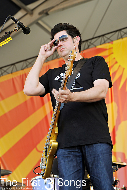 Tom Drummond of Better Than Ezra performs during the New Orleans Jazz & Heritage Festival in New Orleans, LA on May 6, 2011.