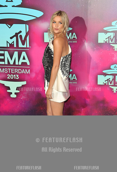 Laura Whitmore arriving at the MTV EMA awards, Amsterdam, Netherlands. 10/11/20013 Picture by: Henry Harris / Featureflash