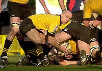 29/02/2004  -  Powergen  Cup - London Wasps v Pertemps Bees .Wasps Harvey Biljon   [Mandatory Credit, Peter Spurier/ Intersport Images].