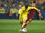 Emerson of AS Roma fights for the balls with Mateo Pablo Musacchio of Villarreal CF during the match Villarreal CF vs AS Roma, part of the UEFA Europa League 2016-17 Round of 32 at the Estadio de la Cerámica on 16 February 2017 in Villarreal, Spain. Photo by Maria Jose Segovia Carmona / Power Sport Images