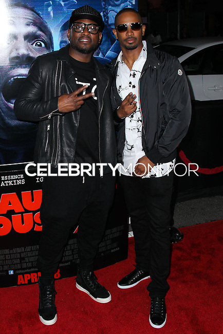 "LOS ANGELES, CA, USA - APRIL 16: Omar Epps, Damon Wayans Jr. at the Los Angeles Premiere Of Open Road Films' ""A Haunted House 2"" held at Regal Cinemas L.A. Live on April 16, 2014 in Los Angeles, California, United States. (Photo by Xavier Collin/Celebrity Monitor)"