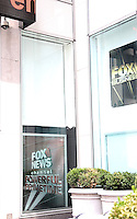 NEW YORK, NY - JULY 6: A blank poster at FOX News Headquarters following the removal of Gretchen Carlson's poster at FOX News Headquarters and the rearranging existing posters following the announcement of Gretchen Carlson's lawsuit against FOX News CEO Roger Ailes for sexual harassment  in New York, New York on July 6, 2016.  Photo Credit: Rainmaker Photo/MediaPunch