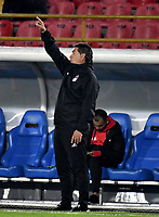 BOGOTA - COLOMBIA - 26 - 01 - 2018: Jorge Da Silva, técnico de America de Cali, durante partido entre Independiente Santa Fe y America de Cali, por el Torneo Fox Sports 2018, jugado en el estadio Nemesio Camacho El Campin de la ciudad de Bogota. / Jorge Da Silva, coach of America de Cali, during a match between Independiente Santa Fe y America de Cali, for the Fox Sports Tournament 2018, played at the Nemesio Camacho El Campin stadium in the city of Bogota. Photo: VizzorImage / Luis Ramirez / Staff.