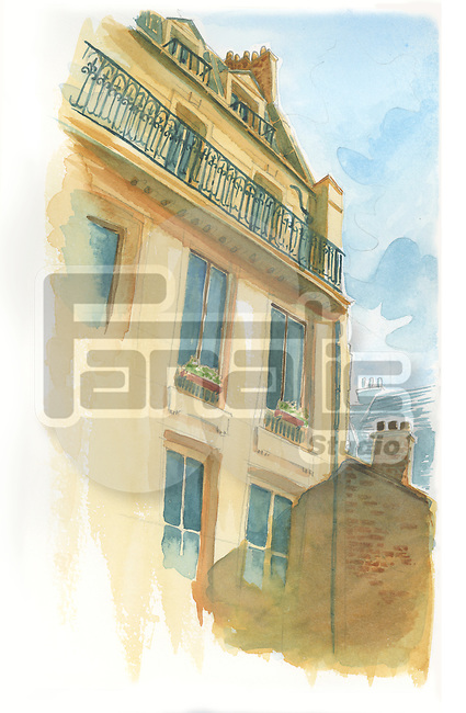 Illustrative image of palladian styled building in Paris